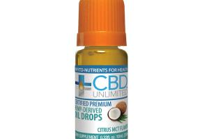 HEMP-DERIVED DIETARY SUPPLEMENT OIL DROPS, CITRUS ZEST