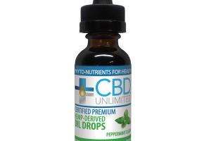 HEMP-DERIVED DIETARY SUPPLEMENT OIL DROPS, PEPPERMINT