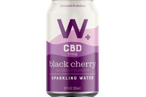 BLACK CHERRY CBD 25 MG SPARKLING WATER