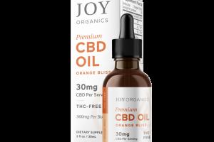 PREMIUM CBD OIL 30MG THC-FREE DIETARY SUPPLEMENT, ORANGE BLISS