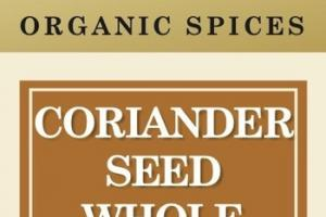 CORIANDER SEED WHOLE ORGANIC SPICES