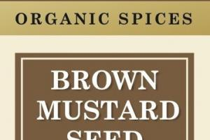 BROWN MUSTARD SEED ORGANIC SPICES