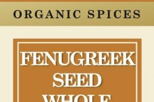 FENUGREEK SEED WHOLE ORGANIC SPICES