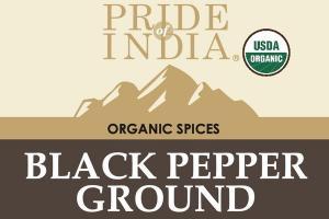 BLACK PEPPER GROUND ORGANIC SPICES
