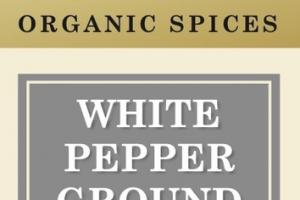 WHITE PEPPER GROUND ORGANIC SPICES