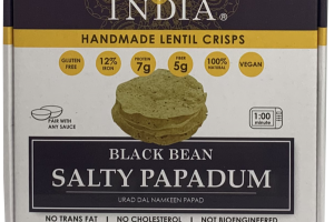 BLACK BEAN SALTY PAPADUM HANDMADE LENTIL CRISPS
