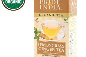 ZESTY COOL LEMONGRASS GINGER ORGANIC HERBAL SUPPLEMENT WRAPPER PREMIUM TEA BAGS