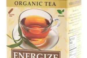 TULSI BLACK ENERGIZE HERB ORGANIC TEA BAGS