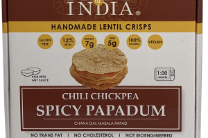 SPICY CHILI CHICKPEA PAPADUM HANDMADE LENTIL CRISPS