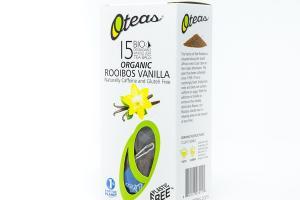 ROOIBOS VANILLA ORGANIC BIO DEGRADABLE WHOLE LEAF TEA BAGS
