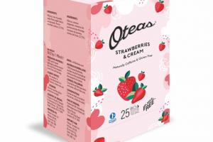STRAWBERRIES & CREAM BIO DEGRADABLE WHOLE LEAF TEA BAG