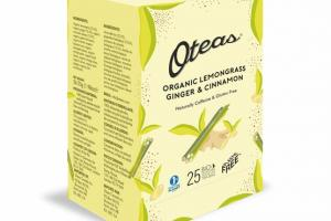 LEMONGRASS, GINGER & CINNAMON ORGANIC BIO DEGRADABLE WHOLE LEAF TEA BAG