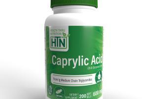 CAPRYLIC ACID C8:0 OCTANOIC ACID DIETARY SUPPLEMENT SOFT GELS