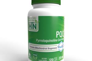 PQQ PYRROLOQUINOLINE QUINONE PROMOTES MITOCHONDRIAL BIOGENESIS DIETARY SUPPLEMENT VEGE CAPS