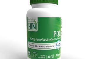 PQQ 40MG PYRROLOQUINOLINE QUINONE PROMOTES MITOCHONDRIAL BIOGENESIS DIETARY SUPPLEMENT VEG CAPS