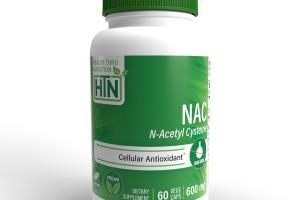 NAC N-ACETYL CYSTEINE CELLULAR ANTIOXIDANT DIETARY SUPPLEMENT VEGE CAPS