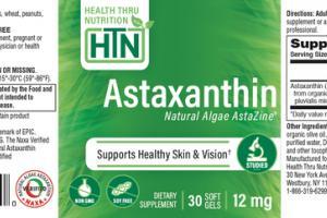 ASTAXANTHIN NATURAL ALGAE ASTAZINE SUPPORTS HEALTHY SKIN & VISION DIETARY SUPPLEMENT SOFT GELS