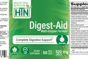 DIGEST-AID MULTI-ENZYME FORMULA 520 MG COMPLEX DIETARY SUPPLEMENT CAPS