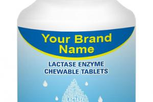 LACTASE ENZYME DIGESTIVE AID FOR DAIRY FOOD. DIETARY SUPPLEMENT CHEWABLE TABLETS