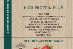 MIXED BERRIES HIGH PROTEIN PLUS MEAL REPLACEMENT SHAKE