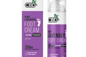 BROAD SPECTRUM HEMP FORMULA FOOT CREAM HEMP LAVENDER