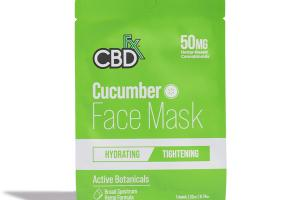 50MG HEMP-BASED CANNABINOIDS CUCUMBER FACE MASK