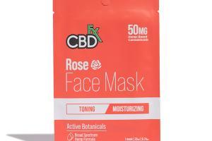 BROAD SPECTRUM 50MG MOISTURIZING FACE MASK ROSE