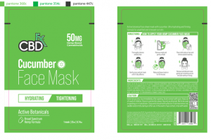 50MG HEMP-BASED CANNABINOIDS FACE MASK CUCUMBER