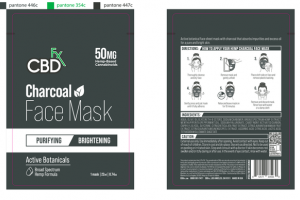 50MG HEMP-BASED CANNABINOIDS CHARCOAL FACE MASK