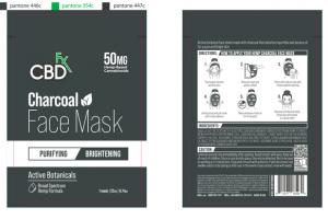 50MG HEMP-BASED CANNABINOIDS CHARCOAL FACE MASK