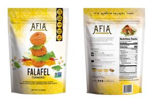 TURMERIC FALAFEL A WHOLESOME BLEND OF GARBANZO BEANS, TURMERIC, CAYENNE, ONIONS, PARSLEY, AND MEDITERRANEAN HERBS & SPICES