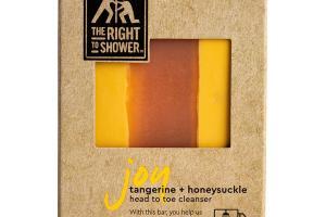 JOY HEAD TO TOE CLEANSER BAR, TANGERINE + HONEYSUCKLE