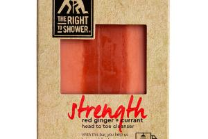STRENGTH HEAD TO TOE CLEANSER BAR, RED GINGER + CURRANT