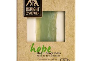 HOPE ALOE + DEWY MOSS HEAD TO TOE CLEANSER BAR