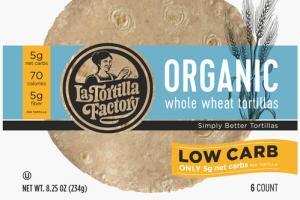 ORGANIC WHOLE WHEAT TORTILLAS