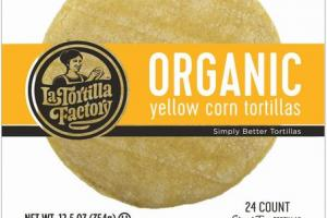 ORGANIC YELLOW CORN STREET TACO TORTILLAS