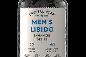MEN'S LIBIDO ENHANCES DESIRE DIETARY SUPPLEMENT VEGETARIAN CAPSULES