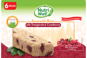 AMARANTH BARS WITH DEHYDRATED CRANBERRY