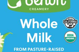 WHOLE MILK FROM PASTURE-RAISED JERSEY COWS