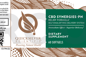 CBD SYNERGIES-PN RELIEF FORMULA DIETARY SUPPLEMENT SOFTGELS