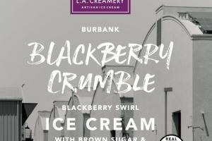 BLACKBERRY CRUMBLE SWIRL ICE CREAM WITH BROWN SUGAR & OAT CRUMBLE