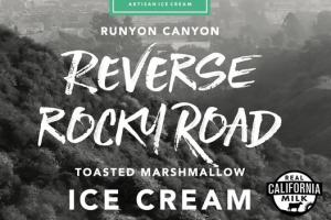 REVERSE ROCKY ROAD TOASTED MARSHMALLOW ICE CREAM WITH CARAMELIZED ALMOND PIECES & DARK CHOCOLATE CHUNKS