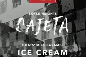 GOATS' MILK CARAMEL ICE CREAM WITH A CINNAMON CARAMEL SWIRL