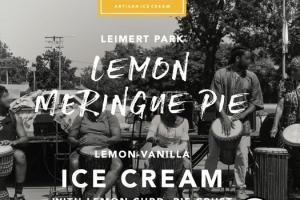 LEMON-VANILLA ICE CREAM WITH LEMON CURD, PIE CRUST AND MERINGUE