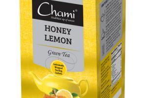 HONEY LEMON GREEN INDIVIDUALLY WRAPPED TEA BAG SACHETS