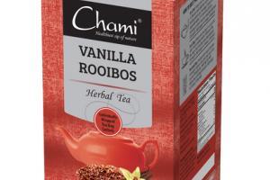 VANILLA ROOIBOS HERBAL TEA BAGS SACHETS