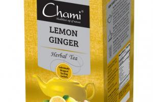 LEMON GINGER HERBAL TEA BAG SACHETS
