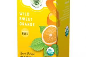 WILD SWEET ORANGE HAND PICKED GARDEN FRESH ORGANIC TEA SACHETS