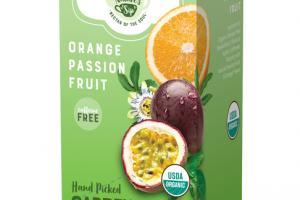 ORANGE PASSION FRUIT HAND PICKED GARDEN FRESH ORGANIC TEA SACHETS