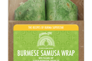 BURMESE SAMUSA WRAP WITH TEA AIOLI DIP